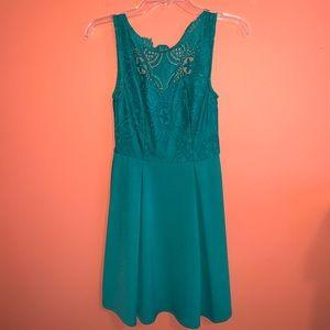 XS Lace Emerald Green Francesca's Dress
